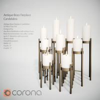 max antique brass fireplace candelabra
