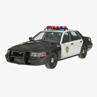 3d crown victoria police car model