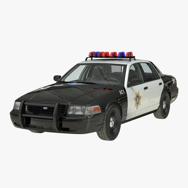 Ford Crown Victoria Police Car Simple Interior 3d model 00.jpg