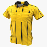 yellow referees jersey 3d model
