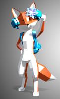 3d stylized fox