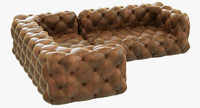 3d restoration hardware soho tufted model