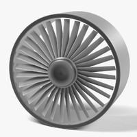 3d large fan model