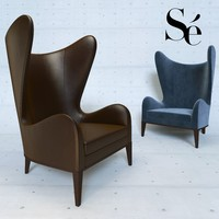 happiness armchair se london 3d obj