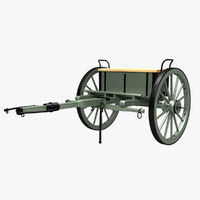 civil war limber cannon obj