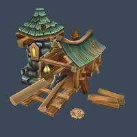 3d model sawmill