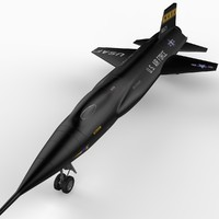3d x-15 rocket plane 15 model