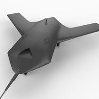 x-45a u s aircraft 3d model