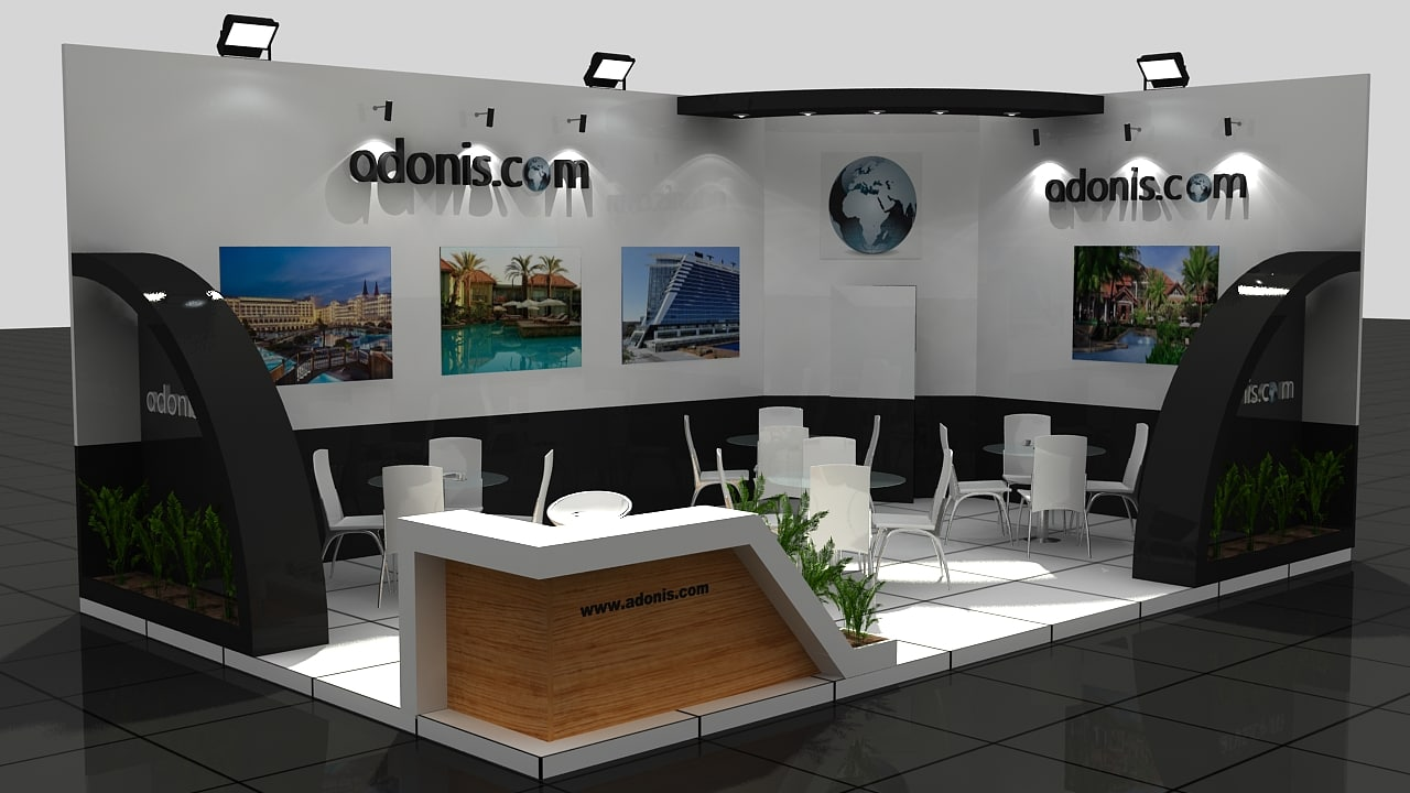Exhibition Stand Design 3d Max : Fair exhibition wooden stand d max