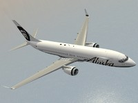 3d model of boeing 737-800 alaska airlines