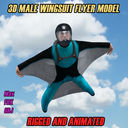 Wingsuit Guy 3D models