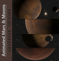 3d model of moons animation mars planet