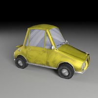 toon painted vehicle 3d model