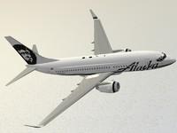 boeing 737-700 alaska airlines 3d model