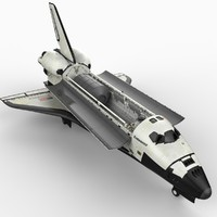 3d space shuttle spacecraft model