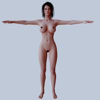 femal character 4k 3d model