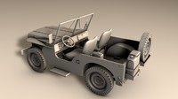 jeep willys 3d fbx