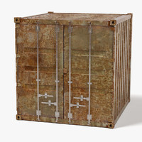 3d rusty container
