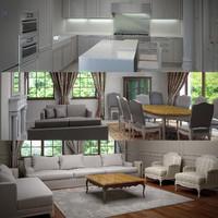 house interior 3d max