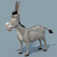 3d max donkey shrek ready