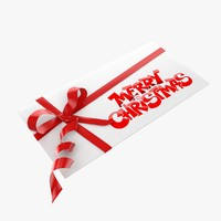 christmas card 3D models