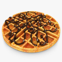 realistic waffle chocolate 3ds