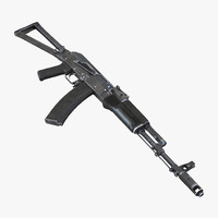 3d assault rifle aks 74 model