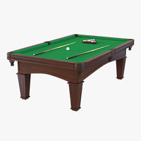 3d model billiard table 2