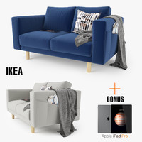 3d ikea morsborg loveseat sofa seat model