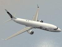 3d model boeing 737-900 er alaska