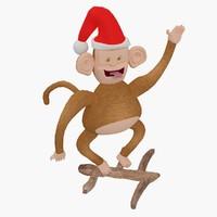 3d max christmas toys monkey