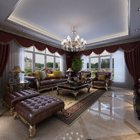 3d living room luxury model