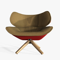 3d model b italia tabano armchair