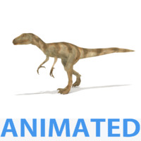 deinonychus renders animations 3d model
