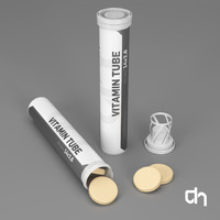 3d model vitamin tubes 14x2 20