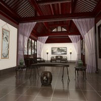 maya chinese piano room interior