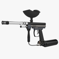 spyder paintball gun 3d fbx