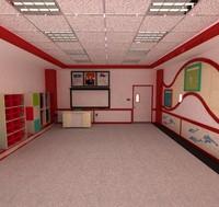 school classroom 3d max