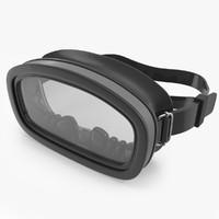 scuba mask 3d model