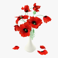 max red poppies bouquet