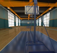 3d basketball hall