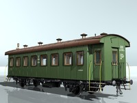 3d 2-axles passenger wagon 5604 model