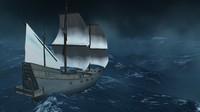 sailing ship 3d fbx