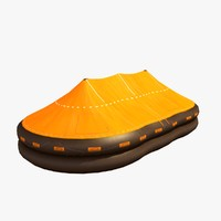 3d emergency life raft 100 model