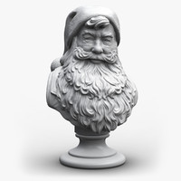 Santa Claus Bust (Sculpture)