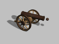 3d model old cannon unity
