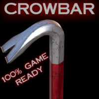 crowbar crow bar 3d model