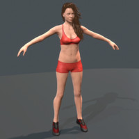 female character 3d obj