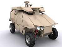 guardium vehicle ugv 3d model