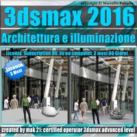 3ds max 2016 Architettura e illuminazione vol 55 3 Mesi Subscription